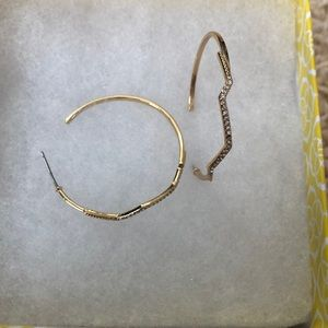 Gold Stella and dot earrings